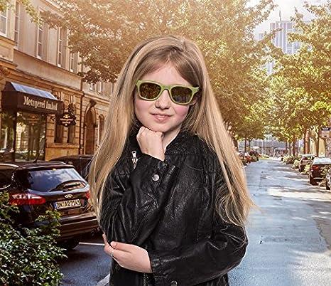 ed1e95c86f5f56 Koolsun pour bébé et enfants Lunettes de soleil Wave Fashion 1 +   Army  Green Miroir