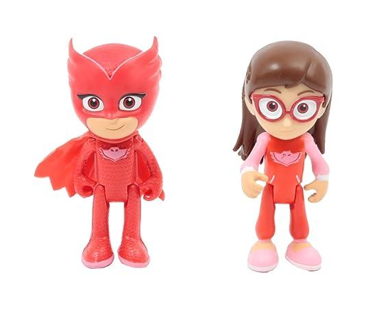 Giochi Preziosi - PJ Masks - Cámara de transformación en superhéroe, Amaya y Buhíta Amaya y Gufetta: Amazon.es: Juguetes y juegos