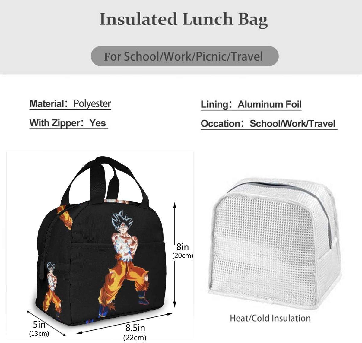 2020 NOUVEAU Lunch Bag Anime Dragon Ball Imprim/é Sacs /à lunch Bo/îte /à lunch Color : 1A