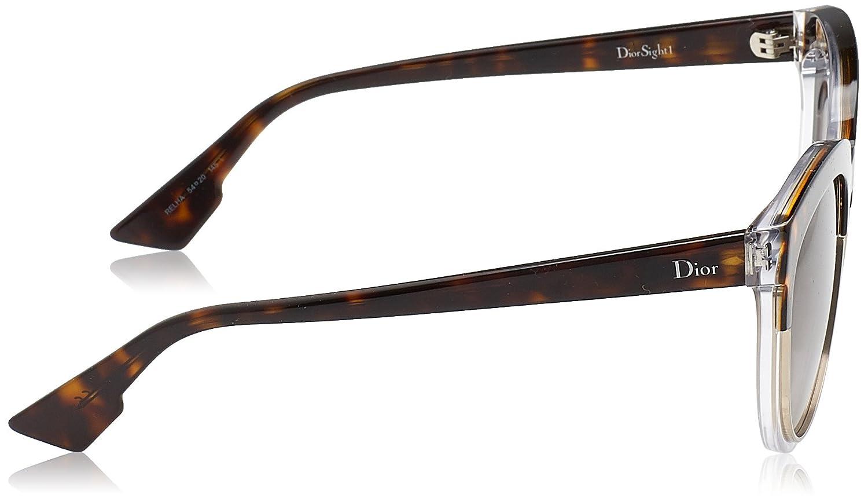 Christian Dior Damen Sonnenbrille DIORSIGHT1 96 K4X, Schwarz (Bk Cryst Bk/Ltgry Slvsp Sf), 54