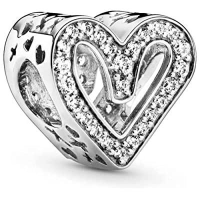 Buy Love Heart Charms Fit Pandora Bracelets S925 Sterling Silver Charm Beads Love Gifts Mother S Day Women S Bead Charm Online In Indonesia B0932pk8tz