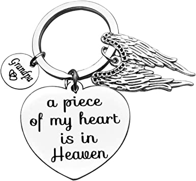 Remembrance Sympathy Gift In Memory Of Key Chain Key Ring Bereavement Grandpa Memorial Purse Charm I Will Hold You In My Heart