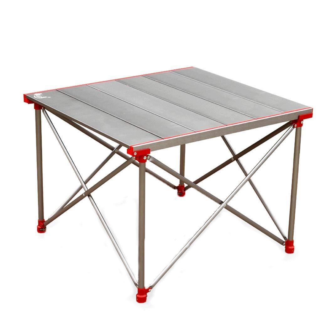 NJ 折りたたみ式テーブル- 屋外ポータブルアルミ折りたたみテーブル、ピクニックテーブルバーベキューテーブル (色 : シルバー しるば゜, サイズ さいず : 72x64x52cm) 72x64x52cm シルバー しるば゜ B07MH9SD48