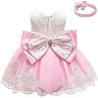 HEFASDM Baby Little Girls Cute Bow Lace Trim Princess Fashion Dresses Clothes