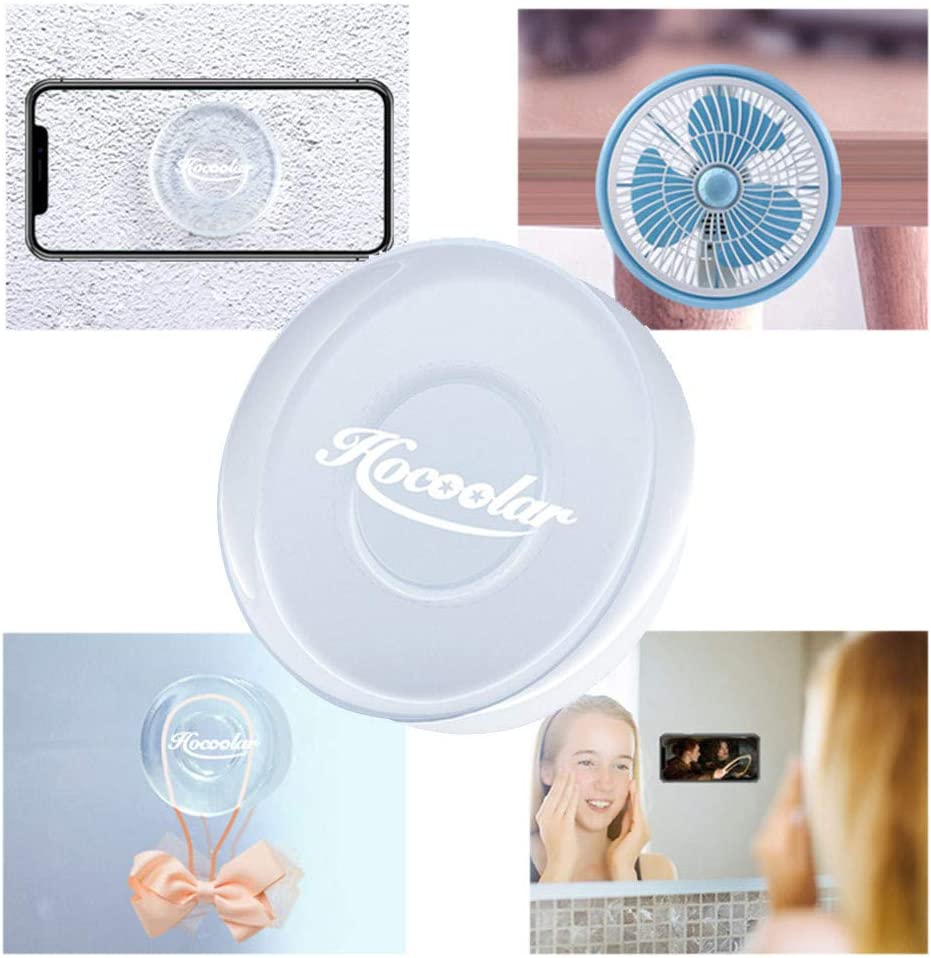 Round Crystal Clear 5 Extra Large Multipurpose Gripping Pads Removable and Does not Leave Any Residue Removable Super Sticky Gel Pads Washable Stick to Any Surface