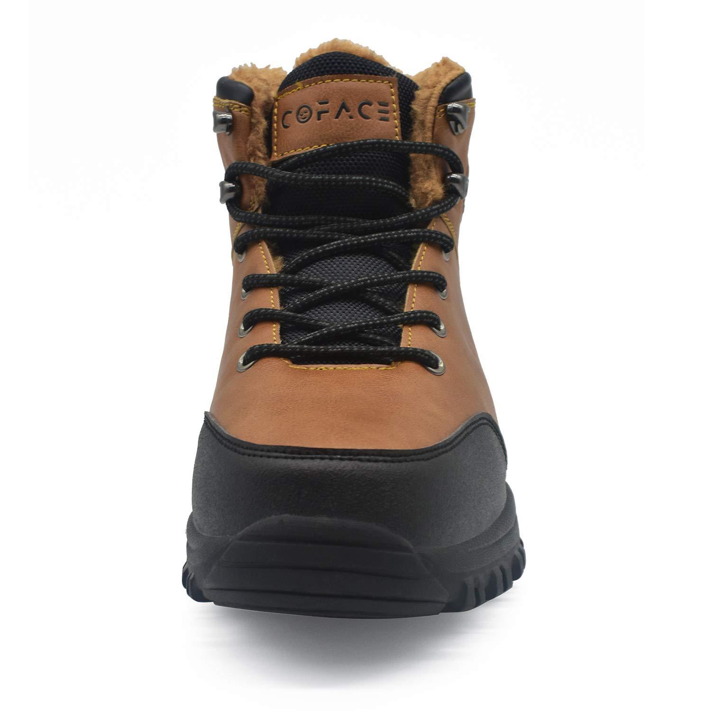 COFACE Hommes Hiver Neige Bottes de randonn/ée Cuir Chaud Chaussures de Marche ext/érieures doubl/ées de Fausse Fourrure