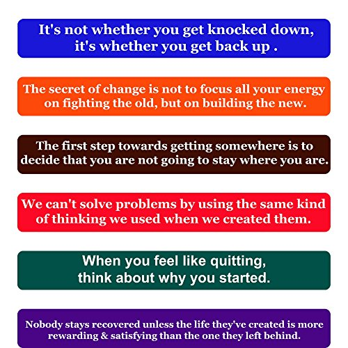 Recovery Quotes Fridge Magnets- Inspirational Words & Motivational Quotes Magnet Set –The Perfect Gift to Encourage Anyone During Their Recovery, Set of 6 Individual Quote Magnets by Home & Beyond