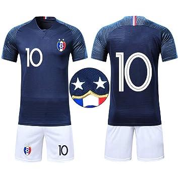 c546d36d30 OUJD Maillots de Football de France Soccer Jersey 2018 2 étoiles Coupe du Monde  Champion Maillot