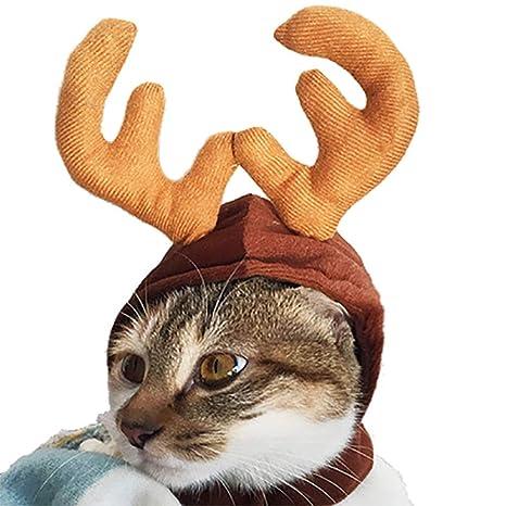 Kalolary Gorro de Gato para Mascota, para Vacaciones, para Mascotas, Gatos, Cachorros