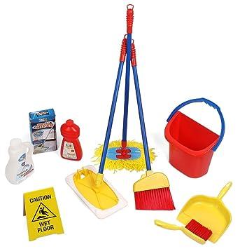 6 Stück Pretend Play Toy Mop Eimer, Reinigung Play Set Housekeeping Set