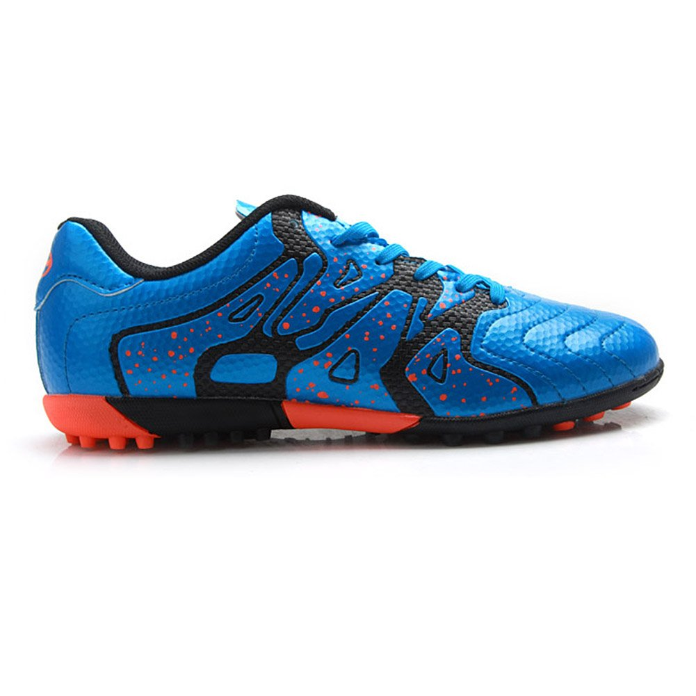 Tiebao Gar/çon Difficile Sol Artificiel La Vitesse PU Cuir Football Chaussures