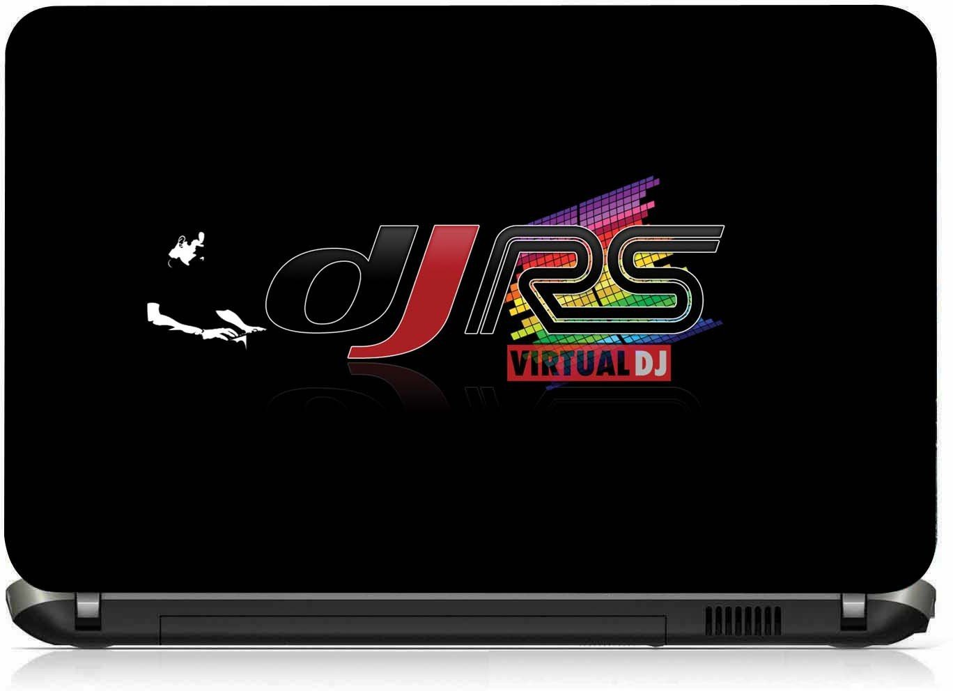 Vi collections dj rs logo in music pvc laptop decal free size for 13 inch to 15 6 inches buy vi collections dj rs logo in music pvc laptop decal free