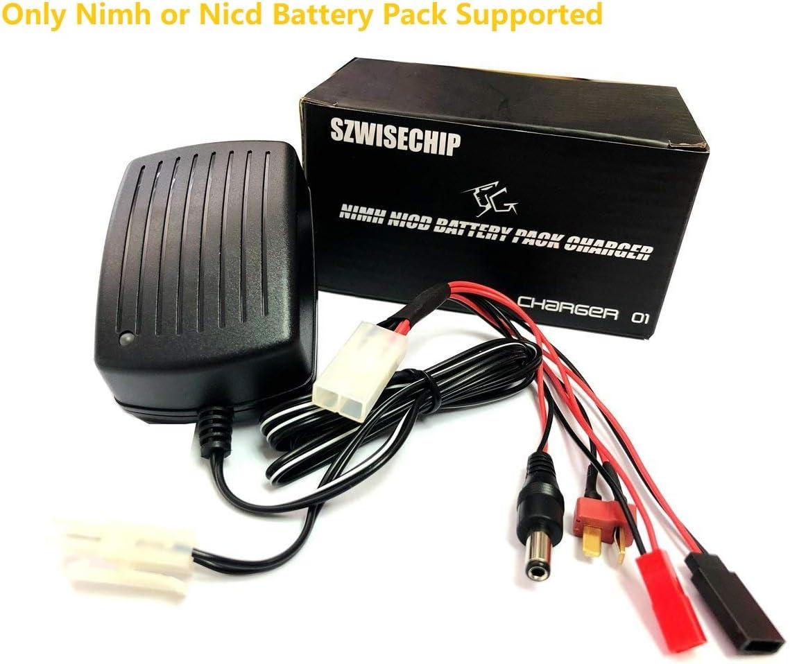 Para airsoft La batería de níquel - cadmio, Szewisechip Nimh, células de 3 - 9 (3.6V, 4.8V, 6V, 7.2V, 8.4V, 9.6 y 10.8V) Cargador rápido paquete de 1a para modelos de coches de radio control
