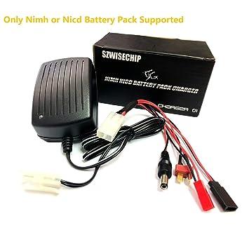 Para airsoft La batería de níquel - cadmio, Szewisechip Nimh, células de 3 - 9 (3.6V, 4.8V, 6V, 7.2V, 8.4V, 9.6 y 10.8V) Cargador rápido paquete de 1a ...
