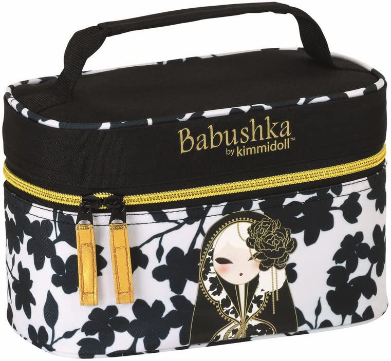 Babushka by Kimmidoll Neceser, Color Negro/Blanco: Amazon.es: Equipaje