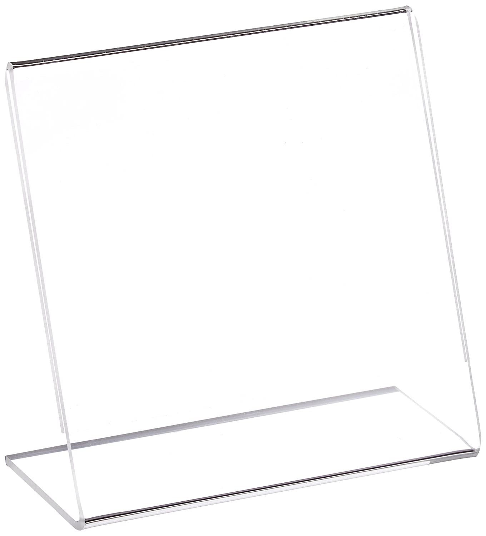 Azar Displays 112726 4-Inch W by 6-Inch H L-Shaped Sign Holder, 10-Piece Set