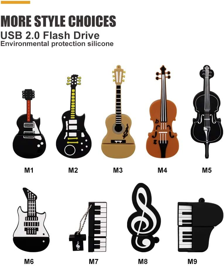 ZQ House Cute Cello Design 64GB USB2.0 Durable