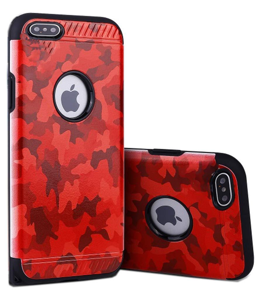 innovative design c7baf 497ff Amazon.com: FDTCYDS iPhone 7 case,Dual Layer Hybrid Armor Camouflage ...