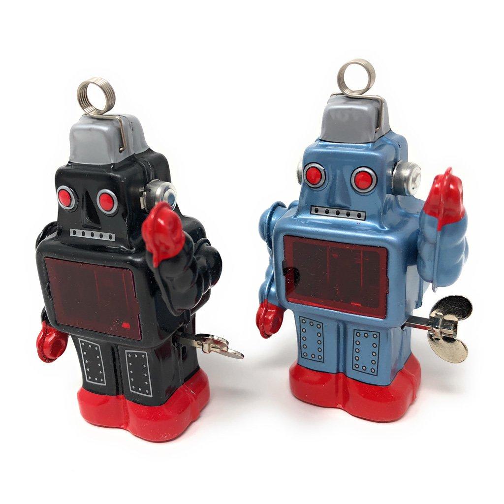 Burekiya Vintage Retro Tin Wind-up Toy - Two Sparkling Robot Set by Burekiya (Image #4)