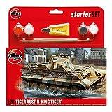 Airfix Plastic Models Kits Plastic Models Kits King Tiger Starter Gift Set (1:76 Scale)