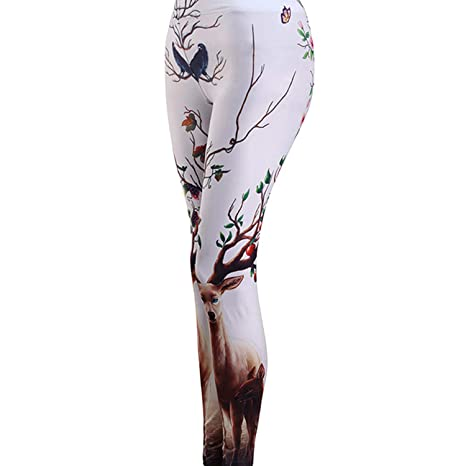 2d76567112f7d6 Tulucky Women's Best Printed Leggings Yoga Workout Stretchy Tights Pants at  Amazon Women's Clothing store: