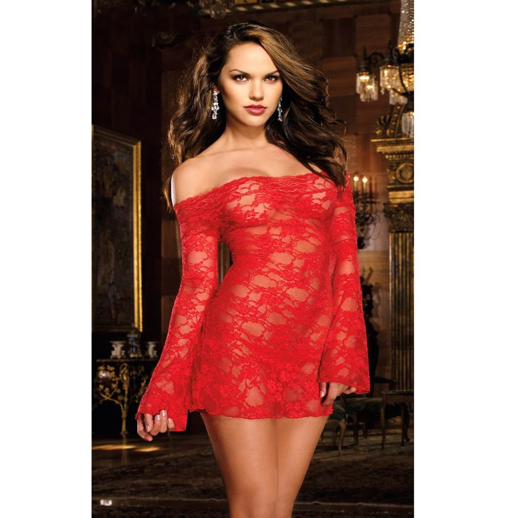 ZFGGD Body de encaje sexy sexy encaje sling para mujer, encaje Hollow cabestro hueco, pijamas de cuerpo leotardo, pijamas confort ( Color : Rojo ) 015f7c