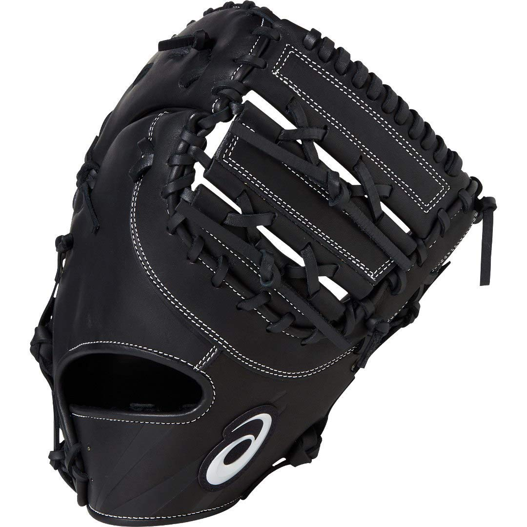 asics(アシックス) 軟式 野球用 グローブ ファースト用 3121A226 B07MLQHWBT LH(右投げ用)|ブラック ブラック LH(右投げ用)