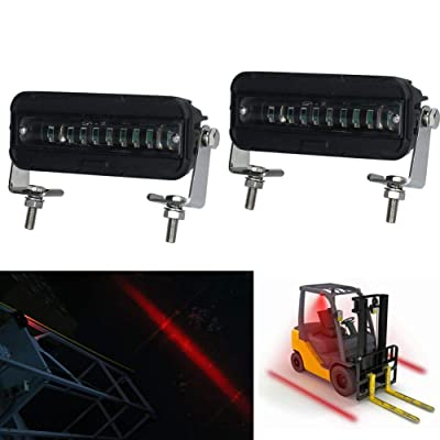 MOVOTOR Forklift Safety Light Cree LED Red Zone Warehouse Pedestrian Warning Light 12v-60v DC Truck Security Indicator Spotlight: Automotive
