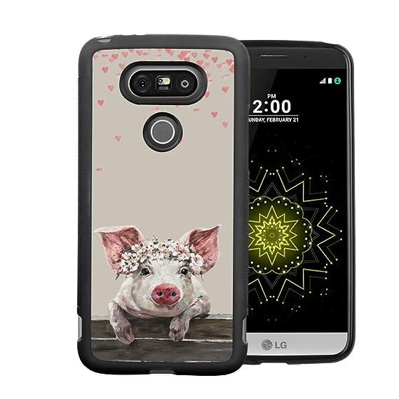 separation shoes d902a 2d572 Amazon.com: LG G5 Pig Princess Phone Case ChyFS Diztronic Full Matte ...
