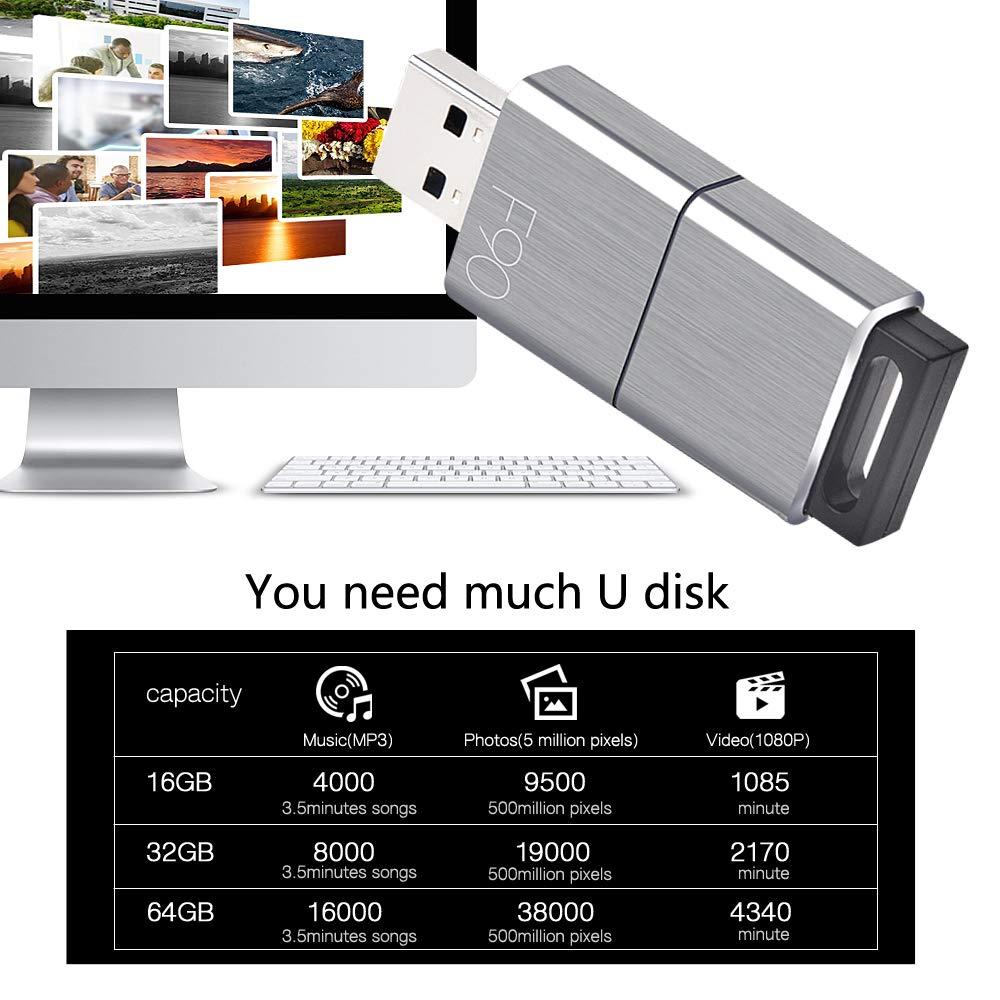 USB Flash Drive Eaget F90 USB 3.0 High Speed Capless Water Resistant Pen Drive Shock Resistant Thumb Drive 256GB