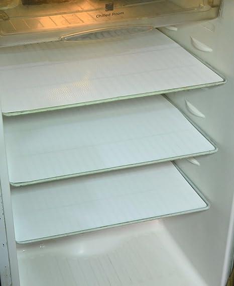 Kuber Industries PVC 6 Piece Refrigerator Drawer Mat Set - White <span at amazon
