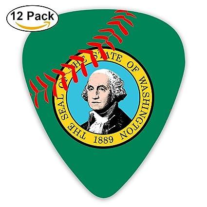 Béisbol Washington Estado bandera moda guitarra púas 351 Forma Classic Picks púas para guitarra de celuloide