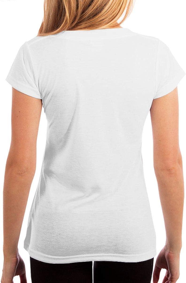 KshsDigu One Direction Womens V Neck Short Sleeve Tee Tops Cotton T-Shirts Black
