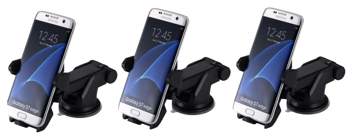 MONARCHPUFF DSH-360 Car Phone Mount Holder, Windshield/Dashboard Universal Easy One Touch Cradle for iOS/Android Smartphone and More - 60 Piece by MONARCHPUFF