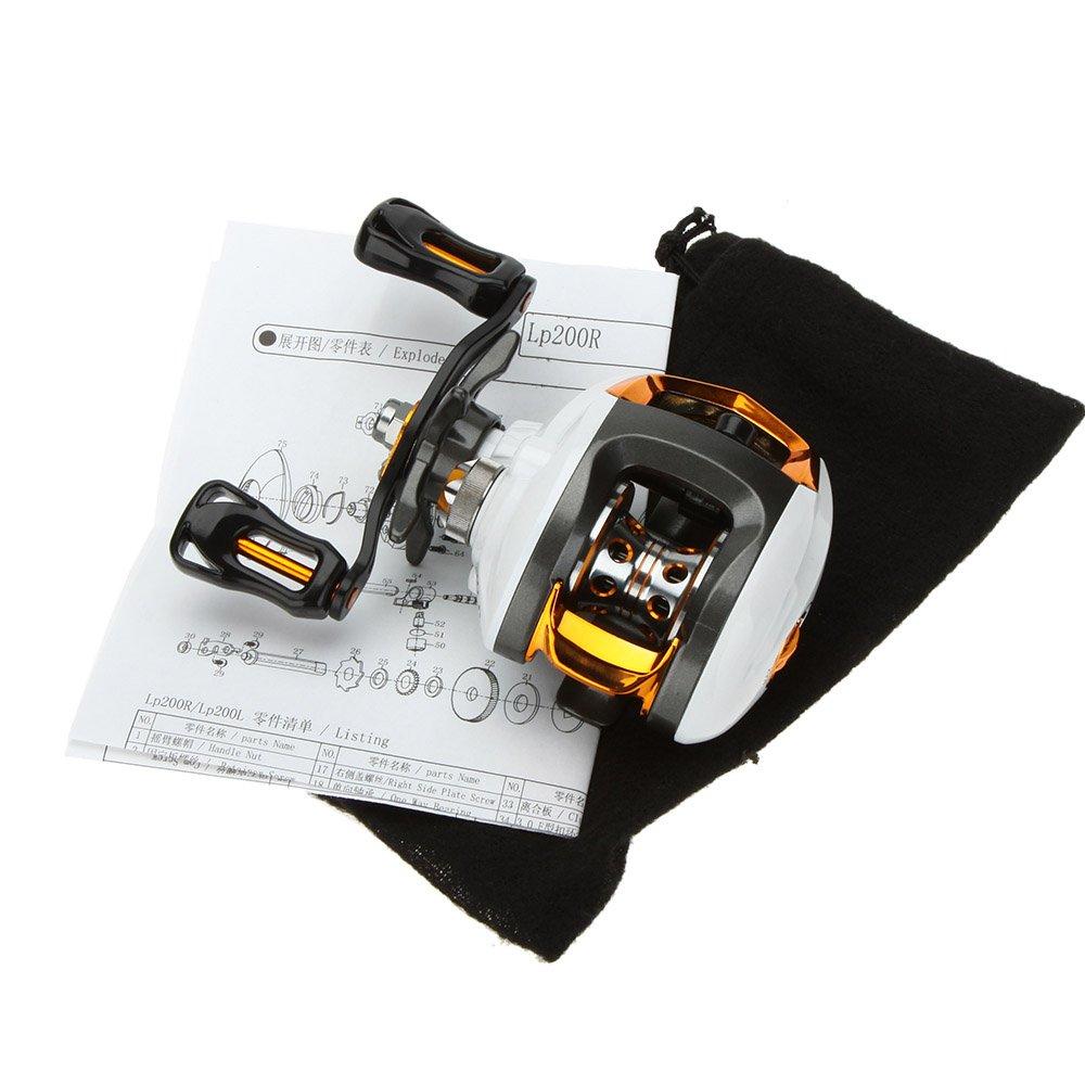 Lixada Baitcasting Angelrolle 12+1 Kugellager Hoch Geschwindigkeit Angeln Spule mit Magnetisch Bremse System