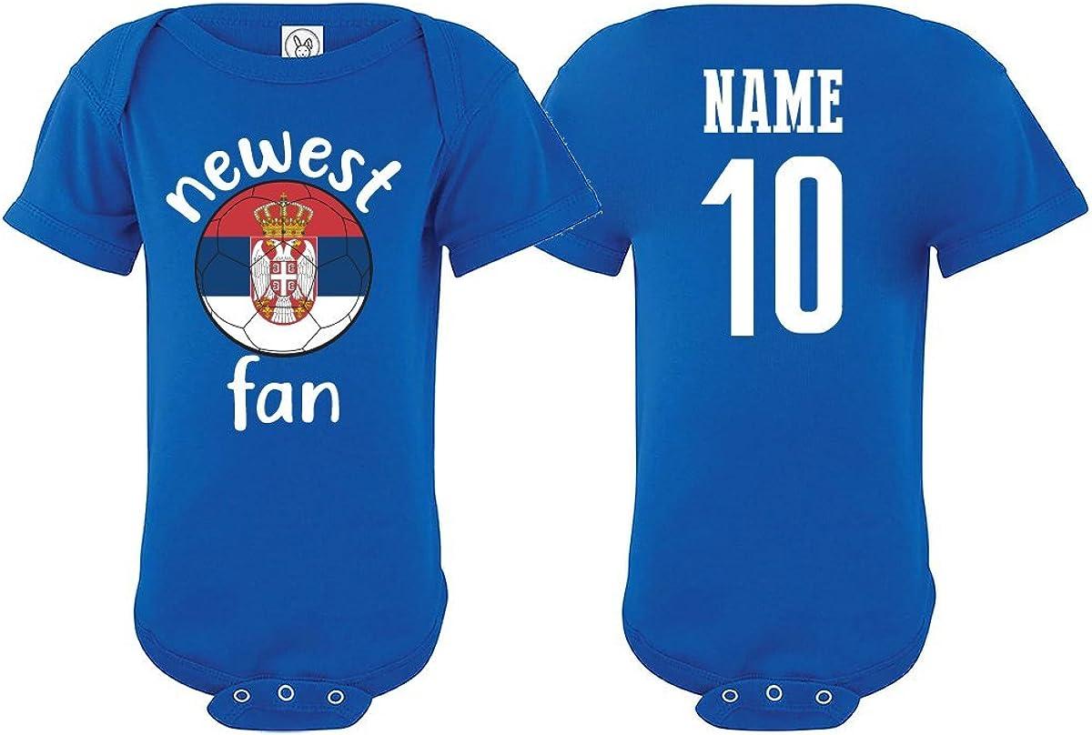 Serbia Bodysuit Newest Fan National Team Soccer Baby Girls Boys Customized