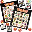 JOYIN 32 Halloween Bingo Game Cards (4x4 & 5x5) – 16 Players for Halloween Party Card Games, School Classroom Games, Trick or Treating, Halloween Party Favors Supplies, Family Activity