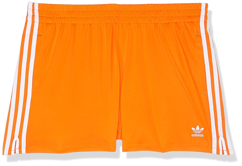 TALLA 38. adidas 3 Stripes Pantalón Corto, Mujer Naranja (Bahía) 38