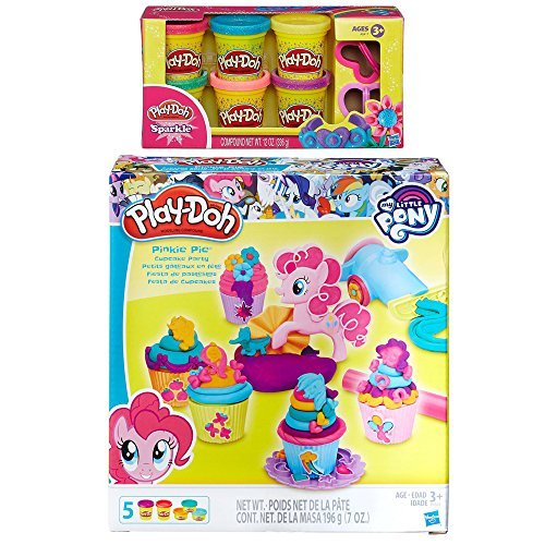 Play-Doh My Little Pony Pinkie Pie Cupcake Party + Play-Doh Sparkle Compound (Pinkie Pie Cupcakes)