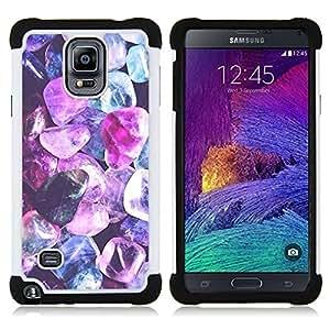 For Samsung Galaxy Note 4 SM-N910 N910 - purple crystal gem blue jewel diamond Dual Layer caso de Shell HUELGA Impacto pata de cabra con im????genes gr????ficas Steam - Funny Shop -