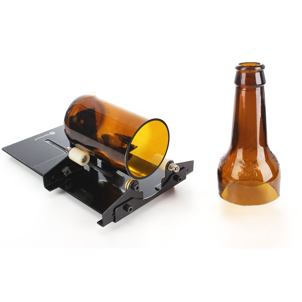 Fixm Genround Machine Wine Bottle Glass Cutter Cutting Tool, Black