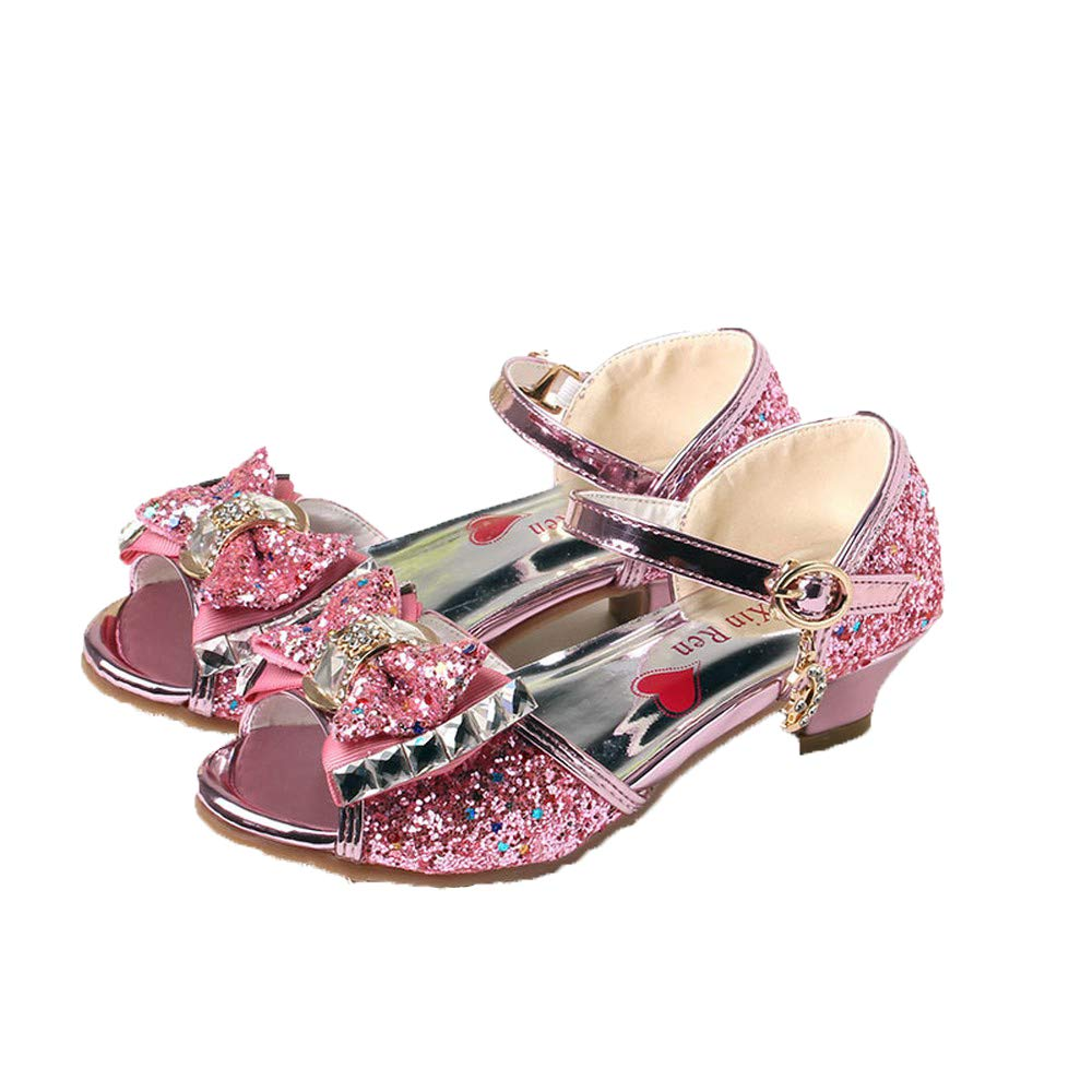 Fashion Shoebox Kids Fashion Low Heel Shoes Little Girls Glitter Pretty Party Dress Pumps Sandals