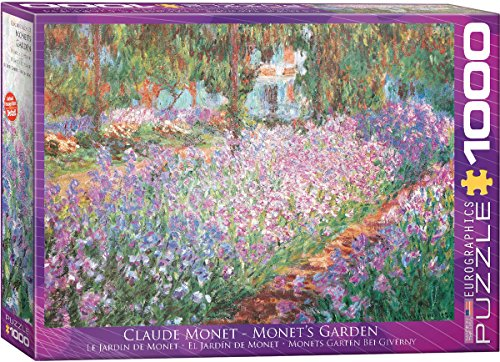 Free Eurographics The Artist's Garden by Claude Monet 1000-Piece Puzzle