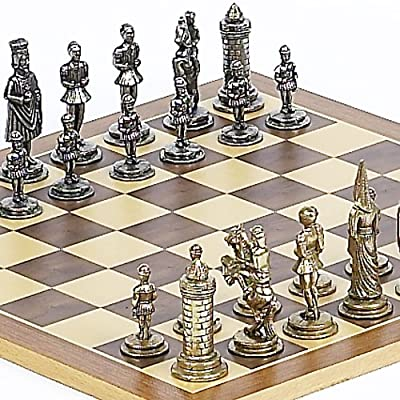 Camila Chessmen From Italy and Houston St. Chess Board