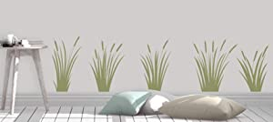 Cattails Decal - Marsh Grass Decal - Nature Decor - Cattails Wall Decal - Home Decor Made in USA Big Size