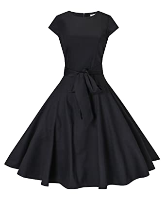 Vintage Palace Womens 50s Retro Rockabilly Dress Vintage Swing Prom Dress