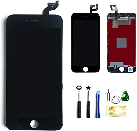 ZTR Black LCD Display Touch Screen Digitizer Assembly with Frame for iPhone 6s Plus 5.5 inch