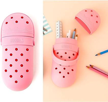 GOODILS – Estuche colorido con forma de zapato EVA Material – Bolsa bolsa organizador con bonito diseño flexible