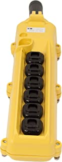 product image for KH Industries CPH06-C2C-000A 6 Push Buttons Pendant Control Switch, 3-Single Speed