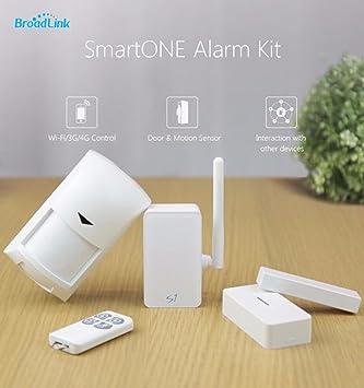 Broadlink S1C SmartOne Wifi Kit Alarma puerta de movimiento PIR sensor Smart Home Control Remote Alarm